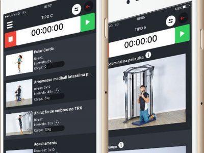 Aplicativo para montar treino