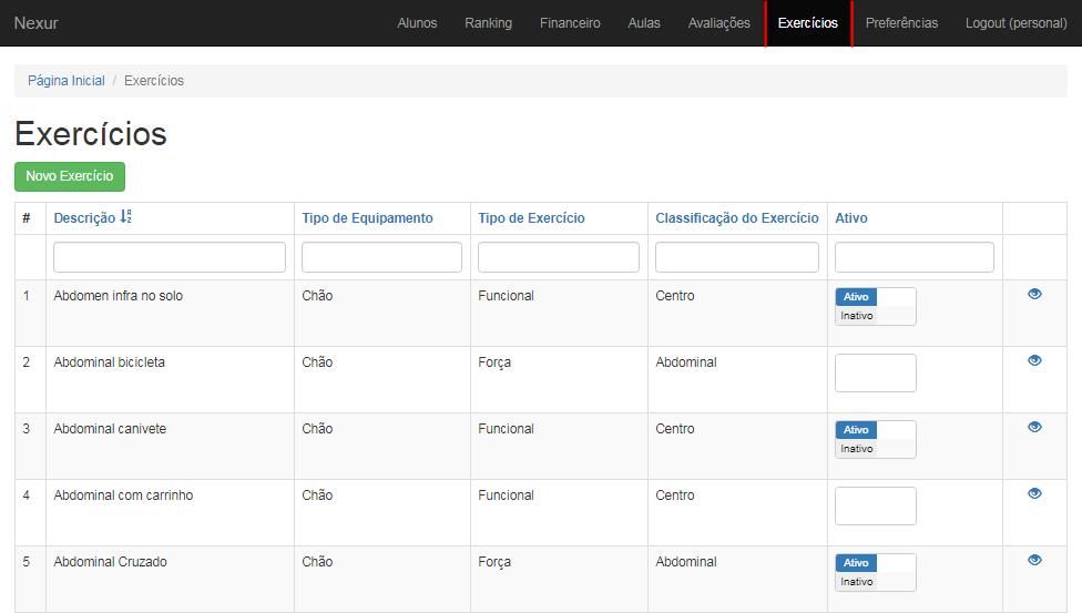 exercicios, aplicativo nexur, aplicativo para personal trainer